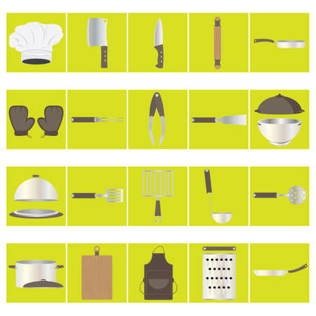 skimmer: set of kitchen icons Illustration