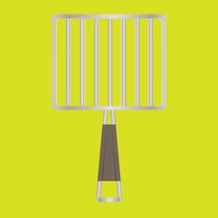 the handle: parrilla de soporte de mango largo Vectores