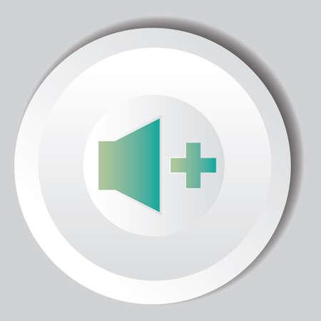 volume: volume increase button Illustration