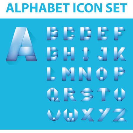 w c: alphabet icon set Illustration