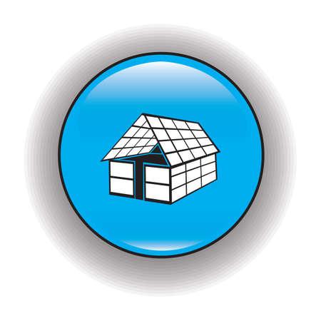 solar panel house: house with solar panel