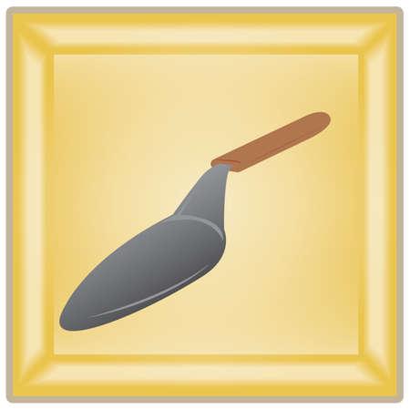 spatula: pizza spatula Illustration