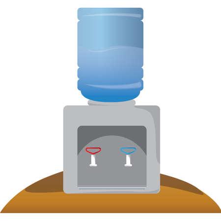 dispenser: water dispenser Illustration