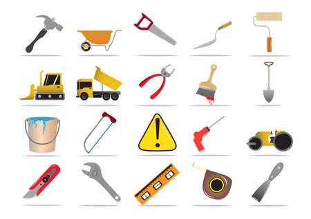 driller: set of construction tools Illustration