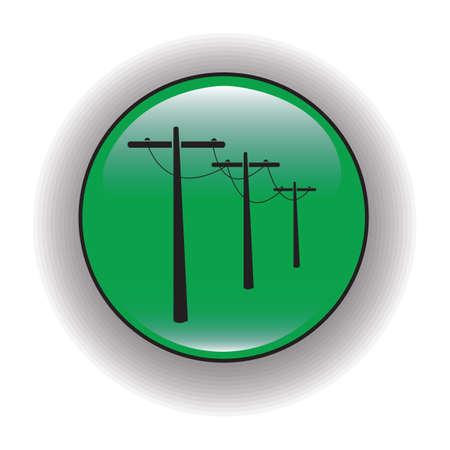 powerlines: electric poles Illustration