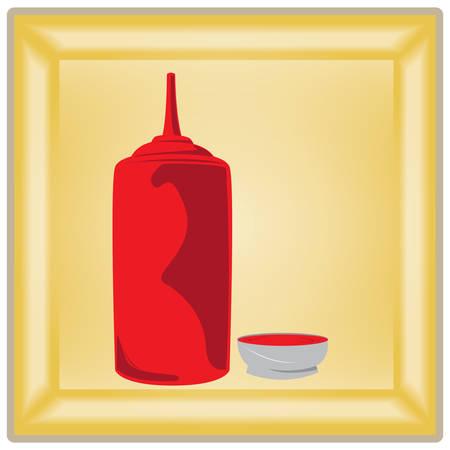 ketchup: ketchup bottle Illustration