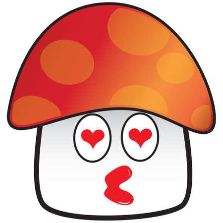infatuation: mushroom in love Illustration