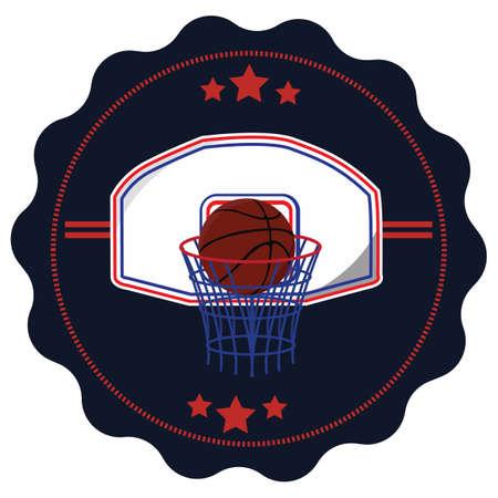 hoop: basketball in hoop
