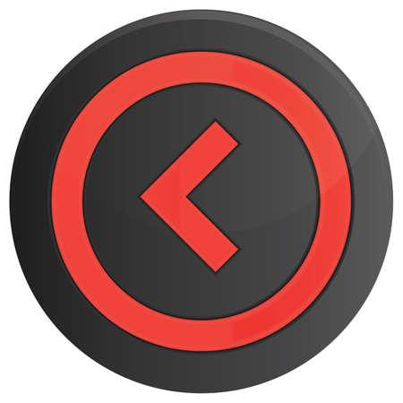 left: arrow left button Illustration