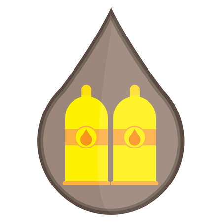flammable: flammable gas cylinders