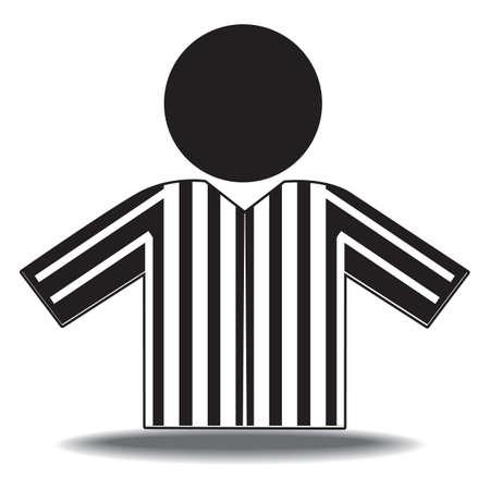 arbitro: árbitro del baloncesto Vectores
