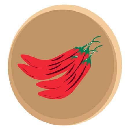 red chilies Ilustração