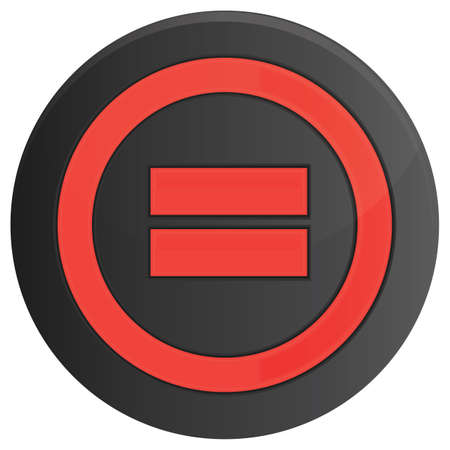 button: equals button Illustration