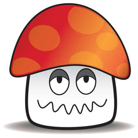 hangover: hangover mushroom Illustration