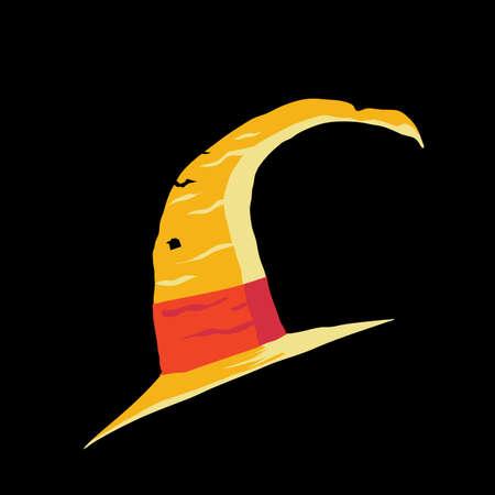 headwear: witch hat