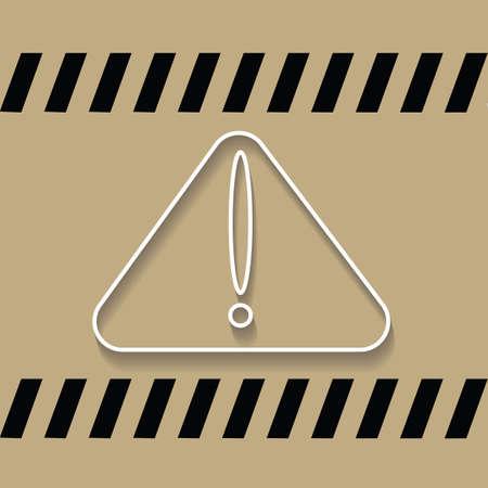 at sign: warning sign