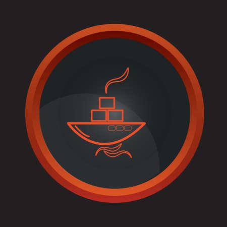tanker ship: oil tanker ship Illustration