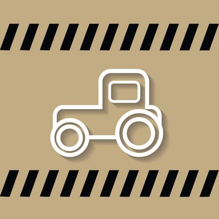four wheeler: tractor Illustration