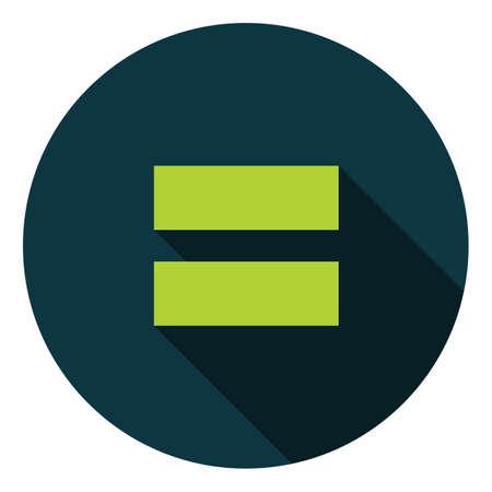 sign equals: equals sign button Illustration