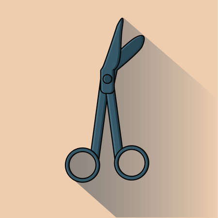 surgical: surgical scissors Illustration