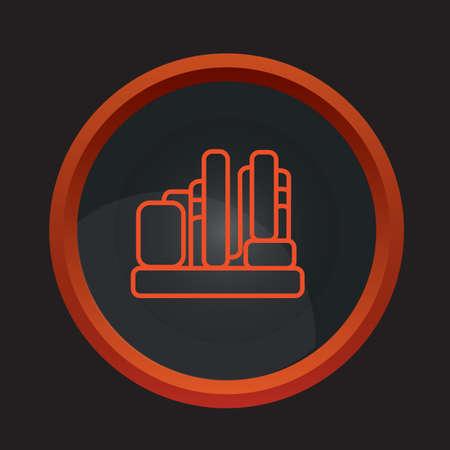 silo: gas silo cluster Illustration