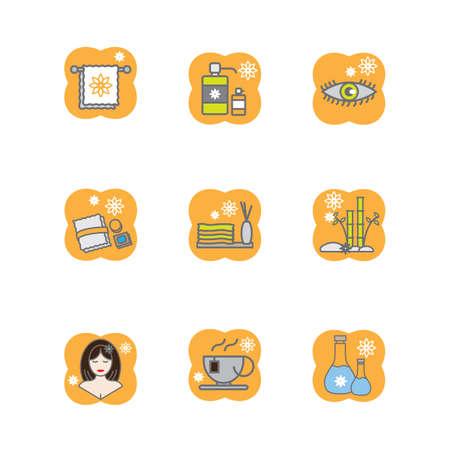 bamboo stick: spa icons Illustration