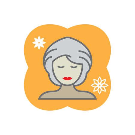 facial mask: woman with facial mask Illustration