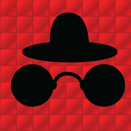 eyewear: silhouette of hat and goggles