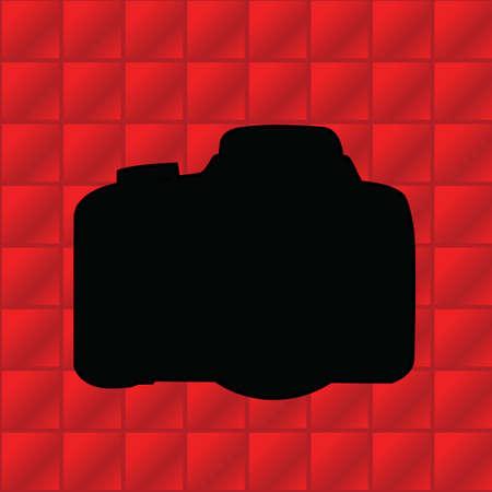 snaps: silhouette of camera Illustration