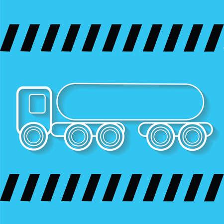 tanker: fuel tanker truck Illustration
