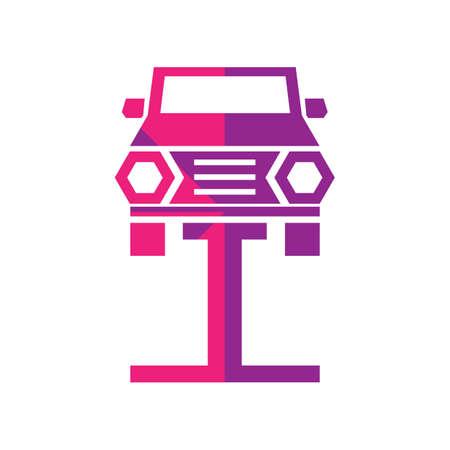 lifter: car on lifter