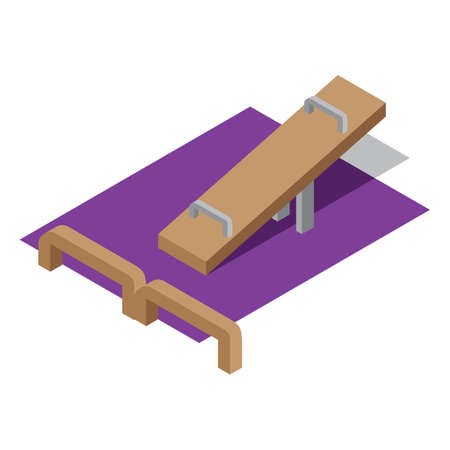 teeter: seesaw Illustration