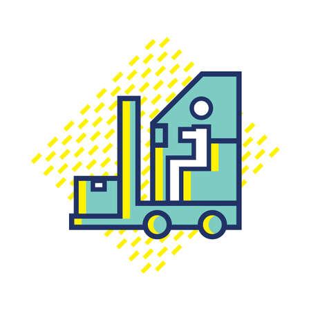 fork lift: fork lift Illustration