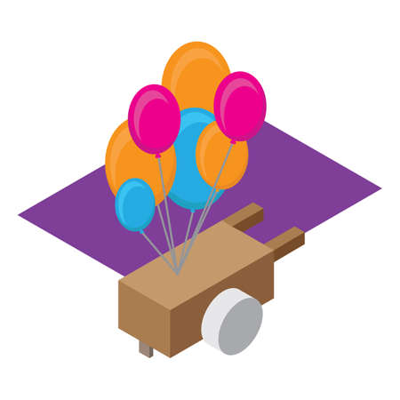 push: balloon on the push cart