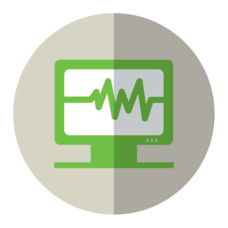 monitor: ecg on monitor