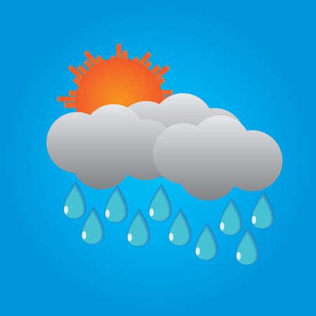 rain cloud: rain cloud and sun
