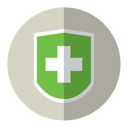 informing: medical badge Illustration