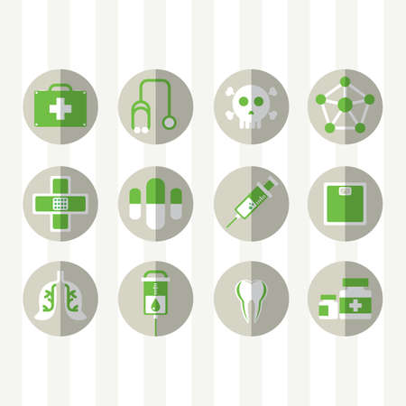 weigh machine: set of medical icons