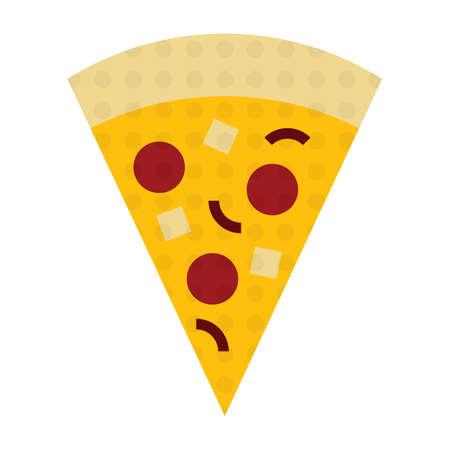 junkfood: pizza slice Illustration