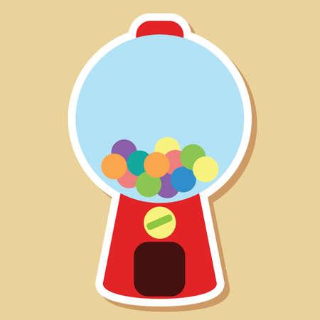 bubblegum: bubblegum machine Illustration