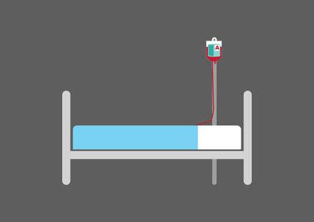 hospital patient: hospital patient bed Illustration