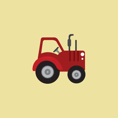 cultivator: tractor Illustration