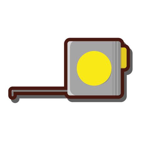 millimeters: measure tape Illustration