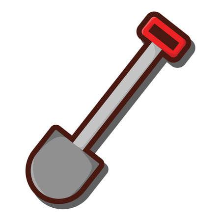 raking: shovel