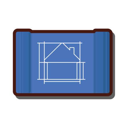 built structure: house blueprint