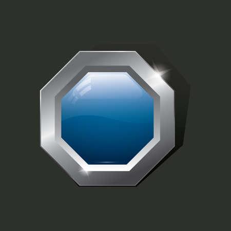 octagon: octagon button
