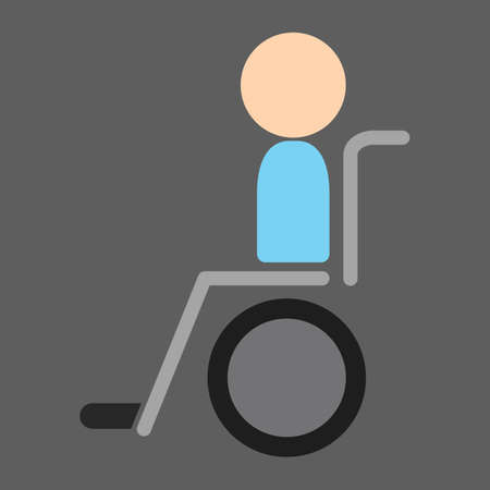 wheel chair: patient on wheel chair