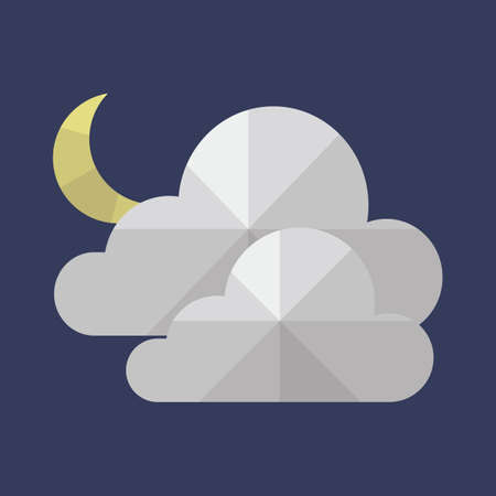 crescent moon: clouds and crescent moon