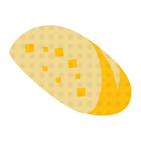 garlic bread: garlic bread Illustration