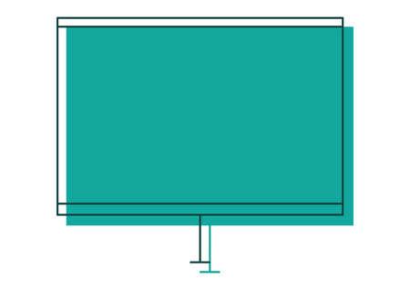 screen: projector screen Illustration